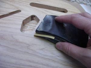 Sanding the sanding sealer