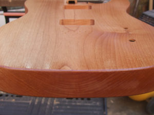 Sanding sealer soaks into end grain