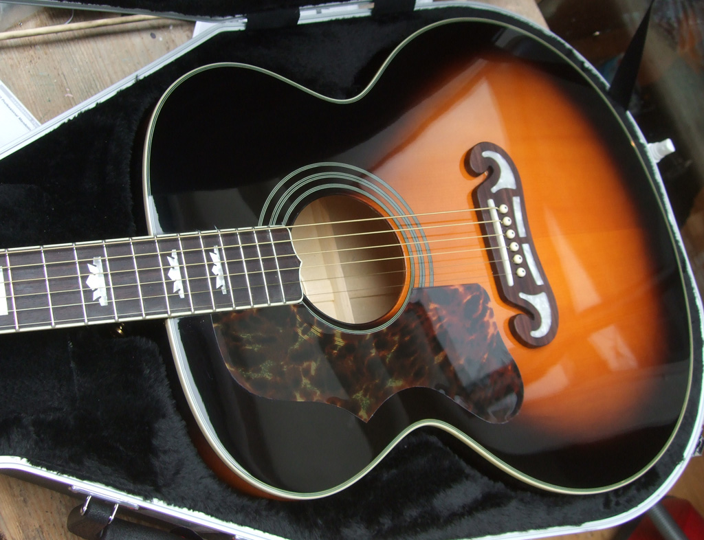 Sunburst Epiphone EJ-200 - another left-handed conversion